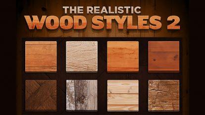 مجموعه استایل فتوشاپ واقعگرایانه چوب The Realistic Wood Styles 2