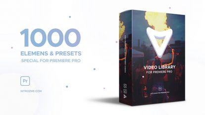 پروژه پریمیر مجموعه اجزای ویدیویی Video Library
