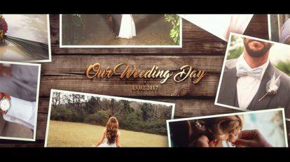 پروژه افترافکت اسلایدشو عروسی Wedding Gold Slideshow