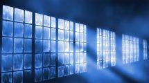 ویدیوی موشن گرافیک زمینه متحرک پرتوهای نور پنجره