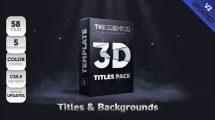 پروژه افترافکت مجموعه عناوین سه بعدی 3D Titles Pack