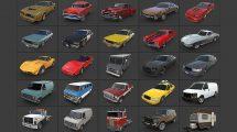 مجموعه مدل سه بعدی ماشین های آمریکایی American Cars Ultimate Collection