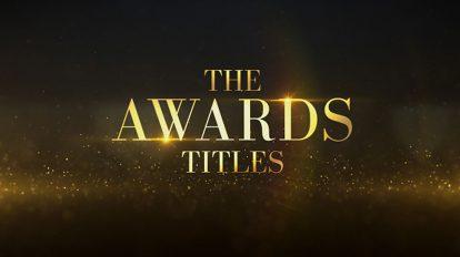 پروژه افترافکت نمایش عناوین مراسم اهدای جوایز Awards Titles