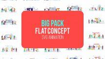 پروژه افترافکت مجموعه موشن گرافیک فلت Big Pack of Flat Concepts