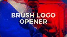 پروژه افترافکت نمایش لوگو با قلم نقاشی Brush Logo Opener