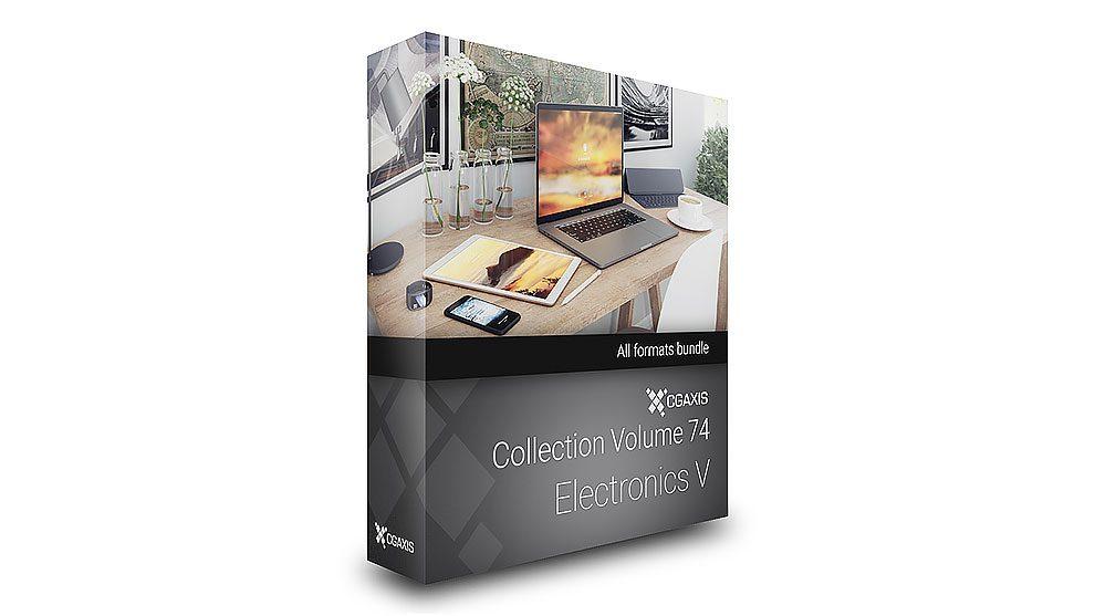 مجموعه مدل سه بعدی تجهیزات الکترونیکی CGAxis Models Volume 74 Electronics V