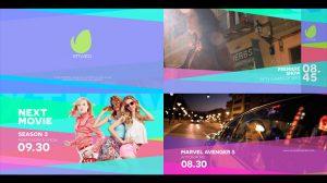 پروژه افترافکت اجزای رنگی برای برودکست Coloful Broadcast Pack