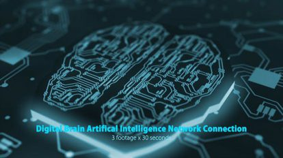 مجموعه ویدیوی موشن گرافیک شبکه مغز هوش مصنوعی