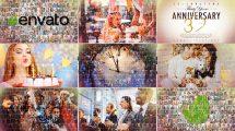 پروژه افترافکت اسلایدشو موزاییکی Elegant Slideshow Mosaic Photo Reveal