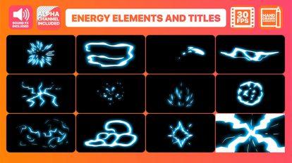 پروژه افترافکت افکت کارتونی انرژی Energy Elements