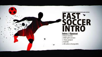 پروژه افترافکت افتتاحیه فوتبالی سریع Fast Soccer Intro