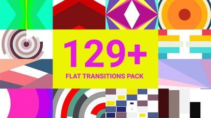 پروژه پریمیر مجموعه ترانزیشن فلت Flat Transitions Pack