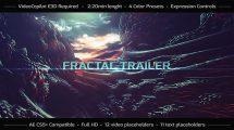 پروژه افترافکت تریلر فراکتال Fractal Trailer