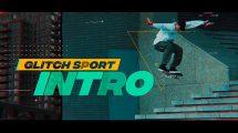 پروژه افترافکت افتتاحیه ورزشی با افکت گلیچ Glitch Sport Intro