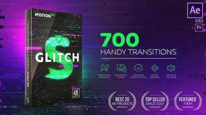 مجموعه ترانزیشن ویدیویی گلیچ Glitch Transitions