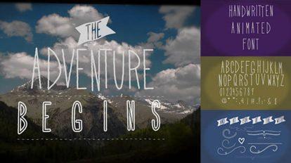 پروژه افترافکت اسلایدشو با عناوین متنی دست نویس Handwritten Animated Font