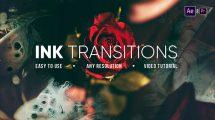 پروژه افترافکت مجموعه ترانزیشن جوهری Ink Transitions