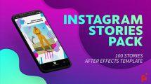 پروژه افترافکت مجموعه استوری اینستاگرام Instagram Package