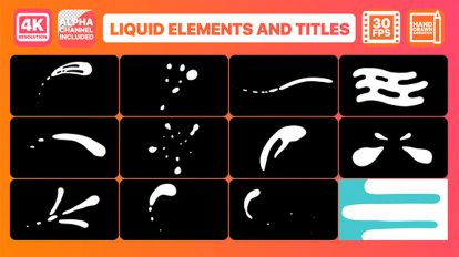 پروژه افترافکت افکت کارتونی سیالات Liquid Elements