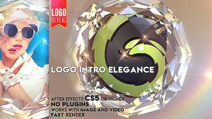 پروژه افترافکت نمایش لوگو در الماس Logo Intro Elegance
