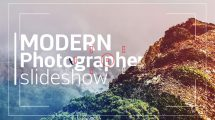 پروژه افترافکت اسلایدشو عکاس مدرن Modern Photographer Slideshow