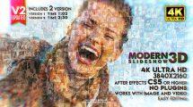 پروژه افترافکت اسلایدشو سه بعدی مدرن Modern Slideshow 3D