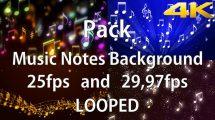 مجموعه ویدیوی موشن گرافیک Music Notes Background