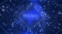 پروژه افترافکت تریلر نت های موزیک Music Notes Trailer