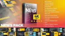 پروژه افترافکت برودکست خبری News Pack