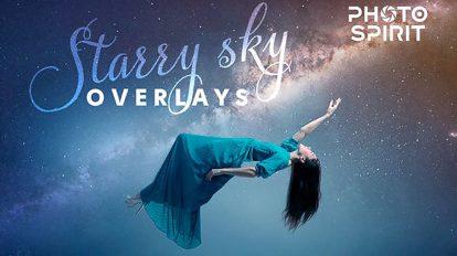 مجموعه اکشن فتوشاپ زمینه ستاره ای Night Sky Starry Overlays