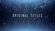 پروژه افترافکت نمایش عناوین با ذرات پارتیکلی Original Titles