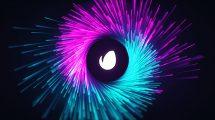 پروژه افترافکت نمایش لوگو پارتیکلی Particle Logo Streak