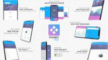 پروژه افترافکت تیزر تبلیغاتی اپلیکیشن PhoneX App Promo Kit