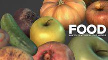 مجموعه مدل سه بعدی واقعگرایانه میوه Photoreal Food