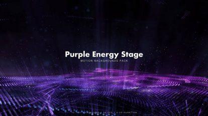 مجموعه ویدیوی موشن گرافیک زمینه متحرک انرژی Purple Energy Stage