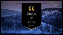 پروژه افترافکت نمایش عناوین و نقل قول Quotes and Titles