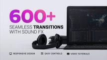 پروژه افترافکت مجموعه 600 ترانزیشن Transitions