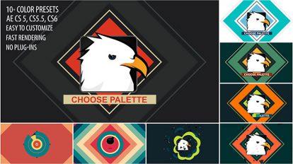 پروژه افترافکت نمایش لوگو با انفجار اشکال Shape Bomb Logo Reveal