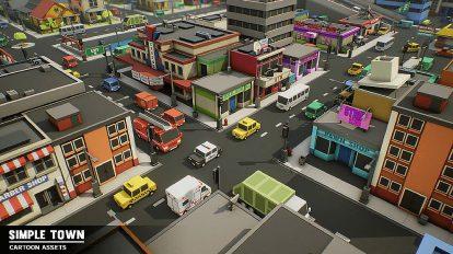 مدل سه بعدی محیط شهری ساده Simple Town