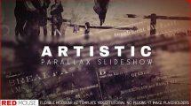 پروژه افترافکت اسلایدشو هنری پارالکس Slideshow