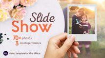 پروژه افترافکت اسلایدشو نمایش عکس Slideshow Montage