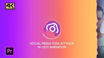 پروژه پریمیر مجموعه نمایش لوگو شبکه اجتماعی Social Media Pack