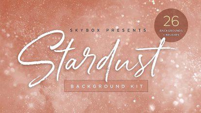 مجموعه تصاویر زمینه پارتیکلی Stardust Universe Background Kit