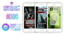 پروژه افترافکت پست و استوری اینستاگرام Storyteller