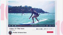 پروژه افترافکت معرفی 10 ویدیوی برتر شبکه اجتماعی
