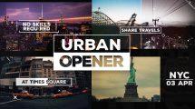پروژه افترافکت افتتاحیه با کلیپ های شهری Urban Opener