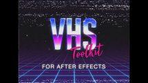 پروژه افترافکت مجموعه اجزای سیستم ویدیوی خانگی VHS Toolkit
