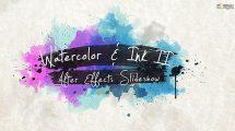 پروژه افترافکت اسلایدشو جوهر و آبرنگ Watercolor Ink Slideshow