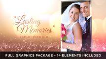 پروژه افترافکت نمایش عکس عروسی Wedding Lasting Memories