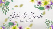 پروژه افترافکت اسلایدشو گل دار برای عروسی Wedding Slideshow Floral